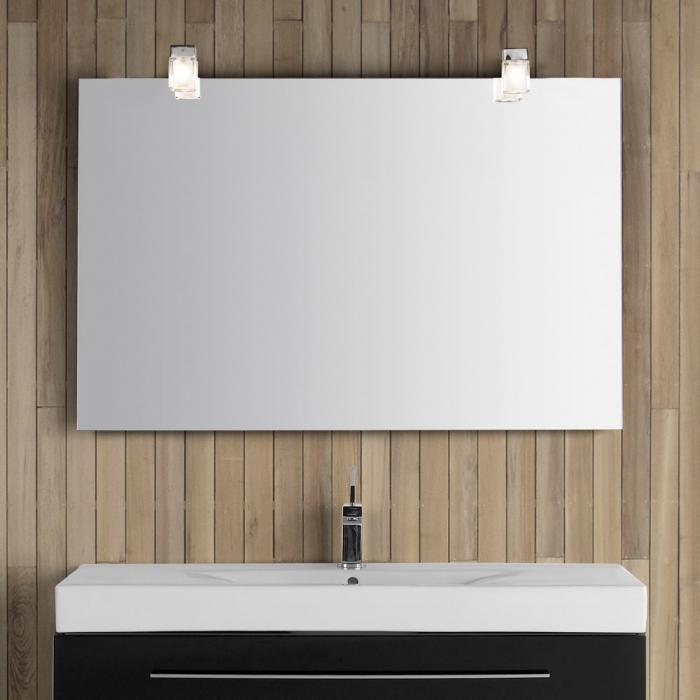 """Großartig Dansani """"Luna/Zaro"""" Spiegel mit Kubus-Lampe und Sensor 120x80cm QW97"""