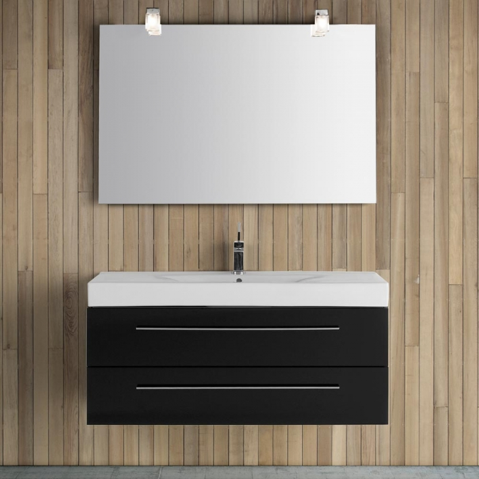 dansani luna zaro spiegel mit kubus lampe und sensor 120x80cm. Black Bedroom Furniture Sets. Home Design Ideas