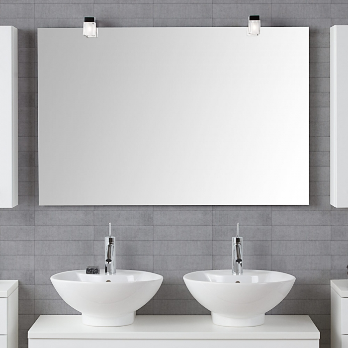 scanbad delta spiegel beheizt mit kubus lampe und sensorschalter 140x. Black Bedroom Furniture Sets. Home Design Ideas