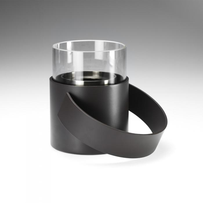 conmoto hotpot in outdoor feuerstelle aus stahl mit schutzglas. Black Bedroom Furniture Sets. Home Design Ideas