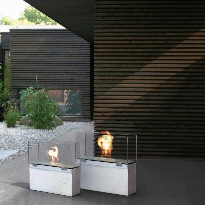 conmoto muro klein in outdoor feuerstelle aus glasfaserbeton mit sch. Black Bedroom Furniture Sets. Home Design Ideas