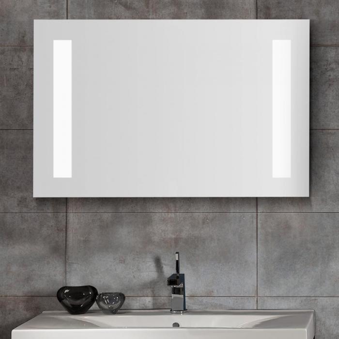Spiegel mit beleuchtung  Scanbad Delta Spiegel mit Beleuchtung seitlich integriert 100x65cm