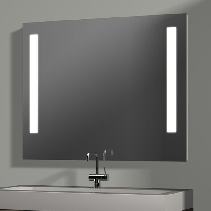 treos serie 604 spiegel mit integrierter beleuchtung 100x80cm. Black Bedroom Furniture Sets. Home Design Ideas