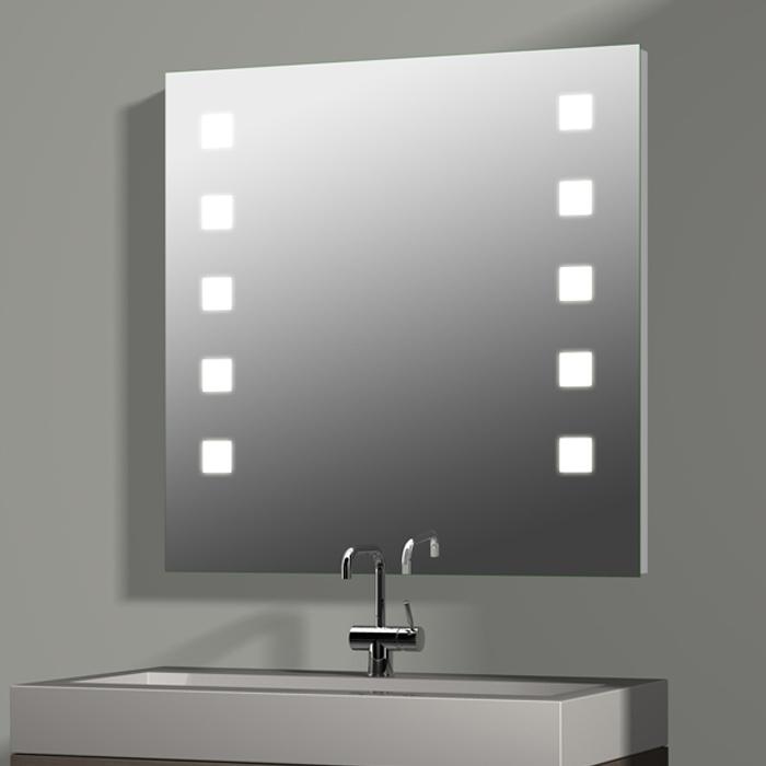 treos serie 605 spiegel mit integrierter beleuchtung 80x80cm. Black Bedroom Furniture Sets. Home Design Ideas