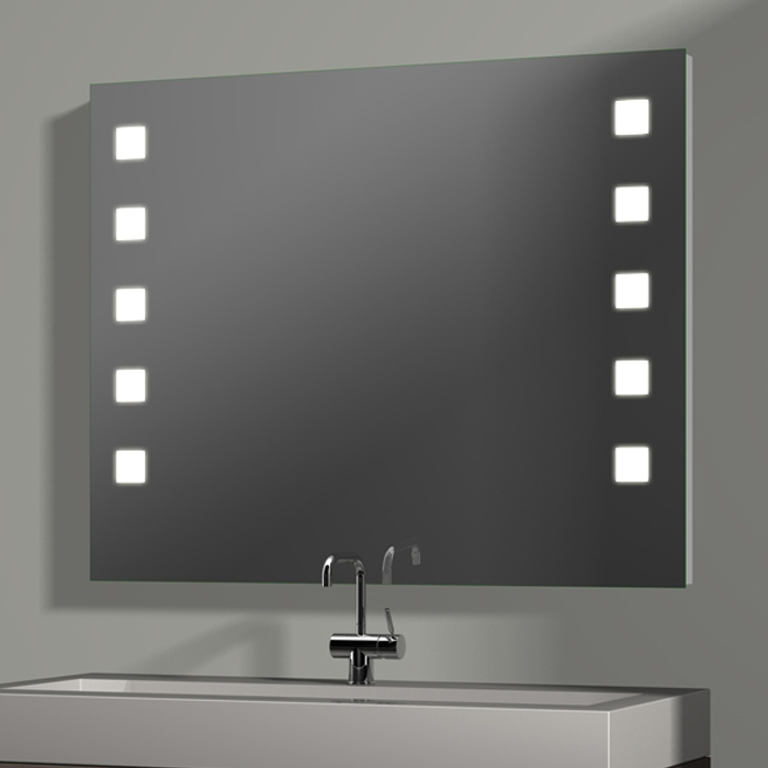 treos serie 605 spiegel mit integrierter beleuchtung 100x80cm. Black Bedroom Furniture Sets. Home Design Ideas