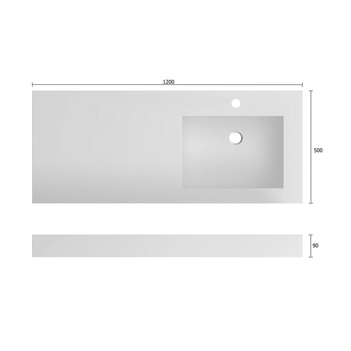 treos serie 700 mineralguss aufsatzwaschbecken 120x50cm. Black Bedroom Furniture Sets. Home Design Ideas