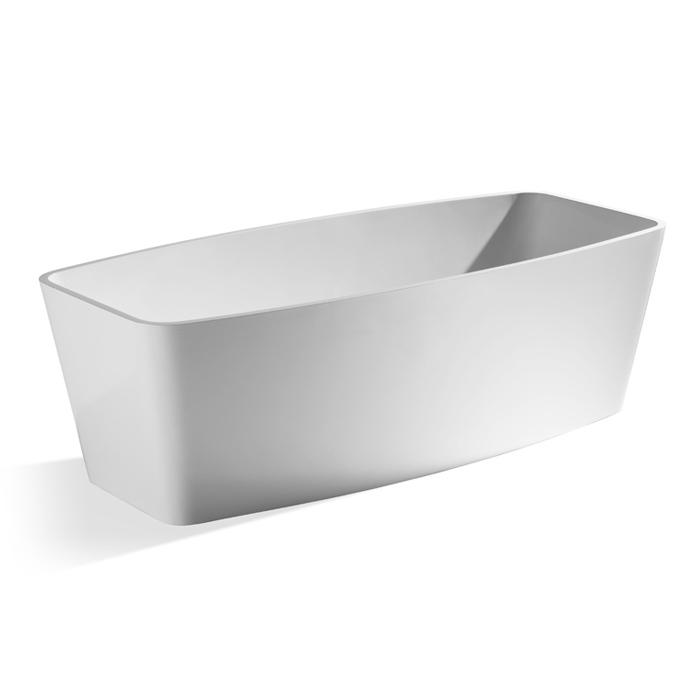 Treos serie 700 badewanne freistehend mineralguss 170x77x55cm for Badewanne freistehend mineralguss