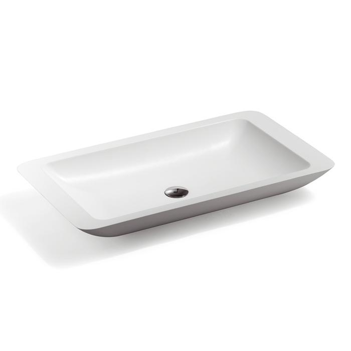 Treos Serie 700 Waschbecken Mineralguss Fa R Aufsatzmontage 80x45x10c