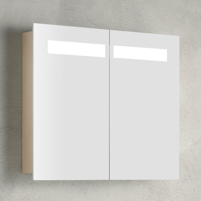 Scanbad Multo Spiegelschrank mit Beleuchtung oben integriert 2 türig
