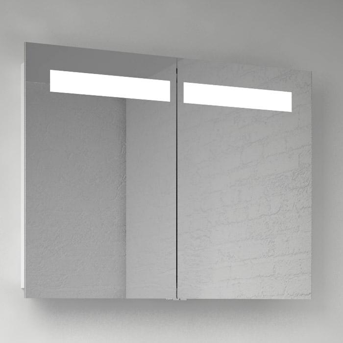 Scanbad Multo Spiegelschrank mit Beleuchtung oben integriert 2türig