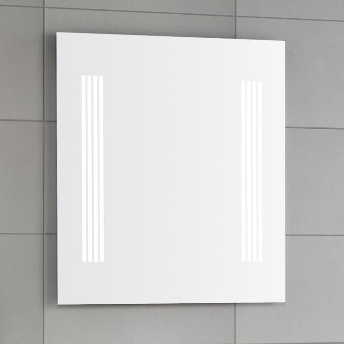 scanbad multo spiegel mit beleuchtung seitlich integriert 60x70cm. Black Bedroom Furniture Sets. Home Design Ideas
