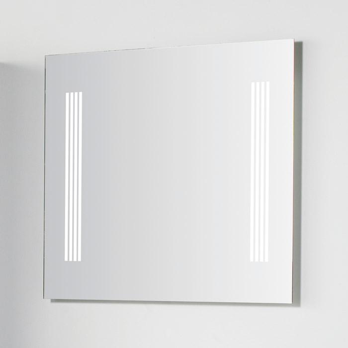 scanbad multo spiegel mit beleuchtung seitlich integriert 80x70cm. Black Bedroom Furniture Sets. Home Design Ideas