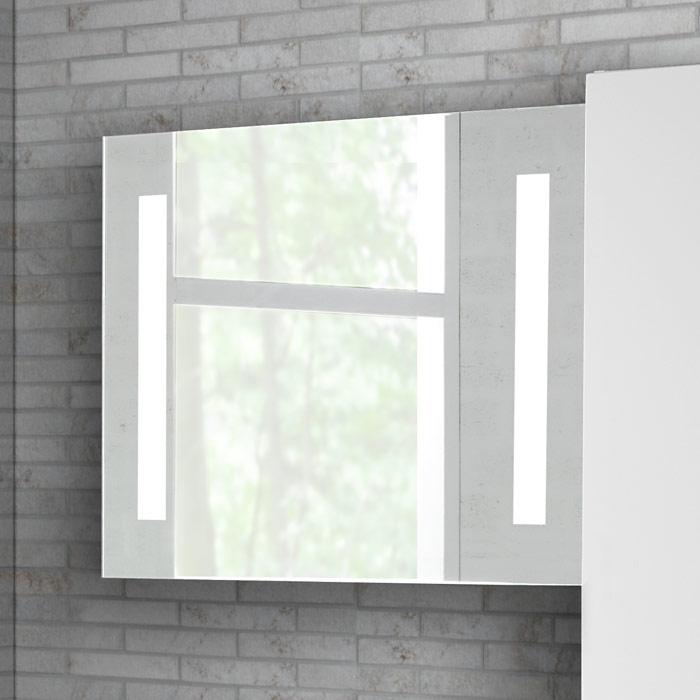 scanbad spiegel mit beleuchtung seitlich integriert 90x70cm. Black Bedroom Furniture Sets. Home Design Ideas