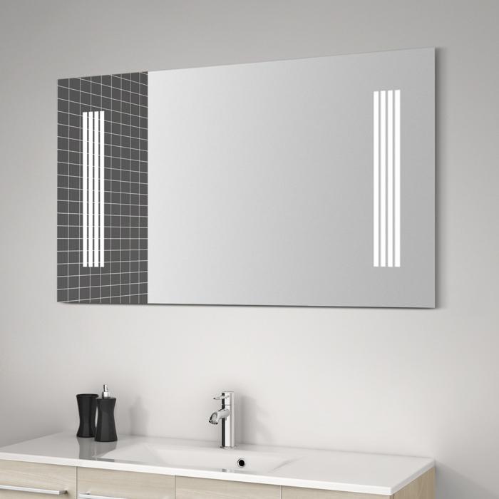 scanbad spiegel mit beleuchtung seitlich integriert 120x70cm. Black Bedroom Furniture Sets. Home Design Ideas