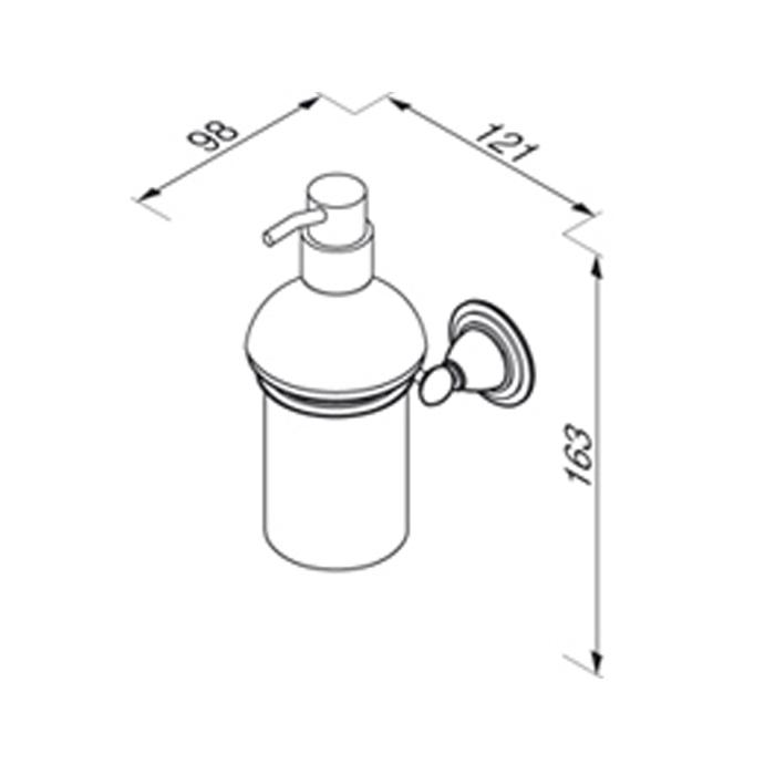 geesa montana classic seifenspender wandmontage glas chrom. Black Bedroom Furniture Sets. Home Design Ideas
