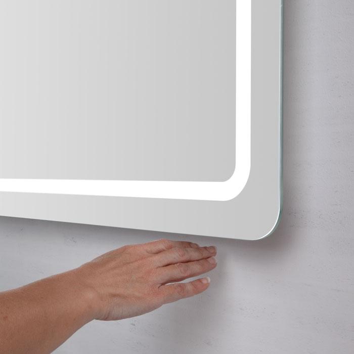 scanbad samba spiegel mit beleuchtung umlaufend integriert 100x64cm. Black Bedroom Furniture Sets. Home Design Ideas