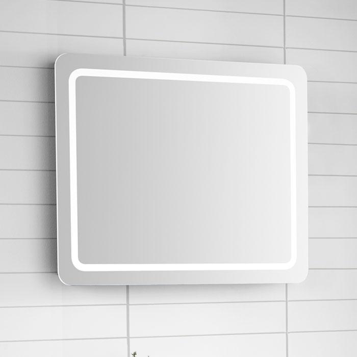 scanbad samba spiegel mit beleuchtung umlaufend integriert 80x64cm. Black Bedroom Furniture Sets. Home Design Ideas
