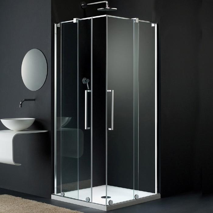 Duschabtrennung schiebetür eckeinstieg  Dusche Schiebetr Dreiteilig ~ Kreative Ideen für Ihr Zuhause-Design