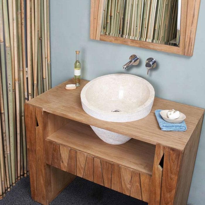 Waschtisch Unterschrank rustikal Balken antik handmade Landhaus shabby