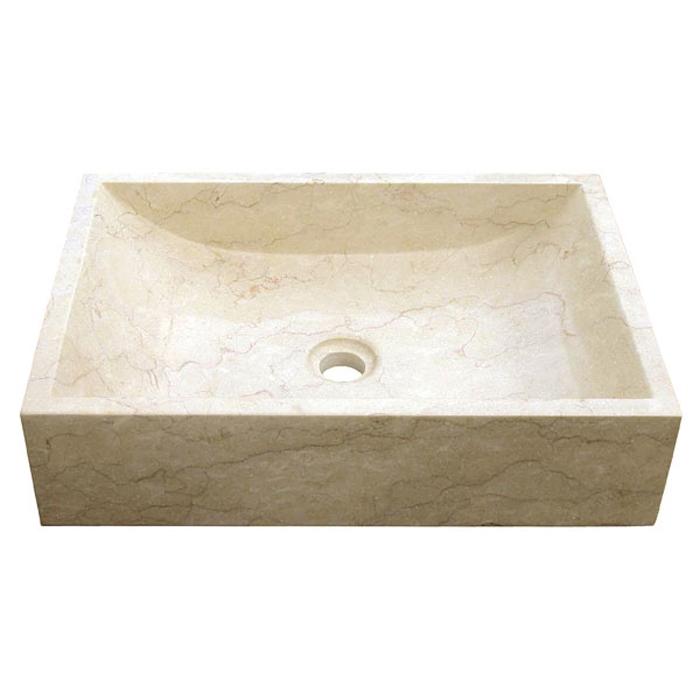 Marmor Waschbecken bati falling water ranya marmor aufsatz waschbecken 50x35x12cm di