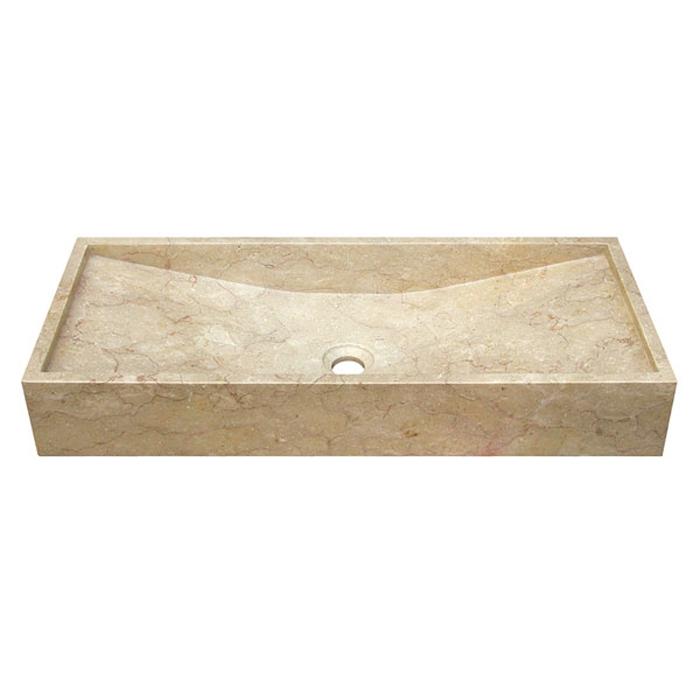 Marmor Waschbecken bati falling water gaya marmor aufsatz waschbecken 80x35x12cm div