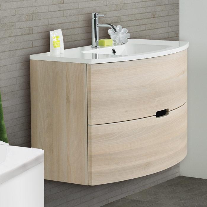 Scanbad modern waschtisch set 90 mit spiegel for Waschtisch mit unterschrank modern