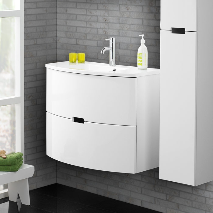 scanbad modern waschtisch set 90 mit spiegelschrank. Black Bedroom Furniture Sets. Home Design Ideas