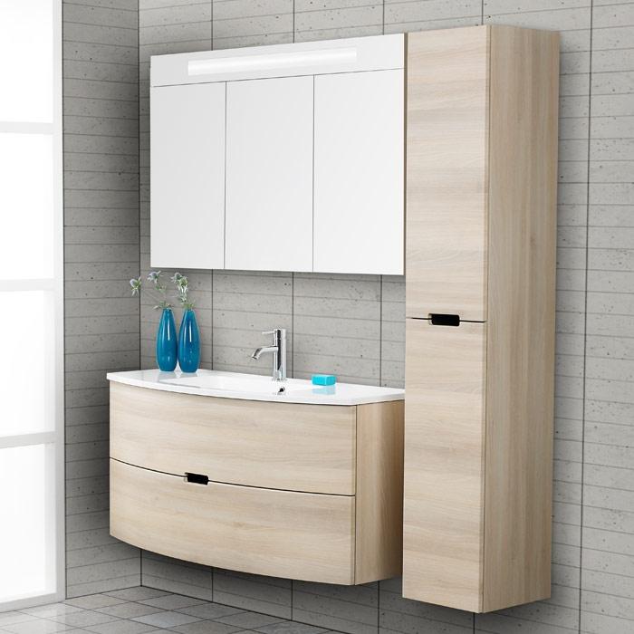 Scanbad modern waschtisch set 120 mit spiegelschrank for Bad waschtisch mit spiegelschrank