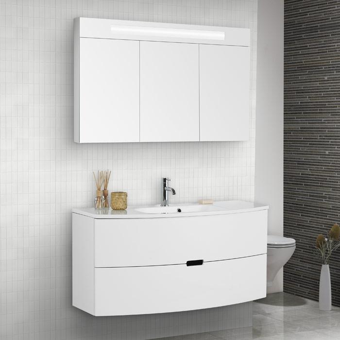 Scanbad modern waschtisch set 120 mit spiegelschrank - Scanbad spiegelschrank ...