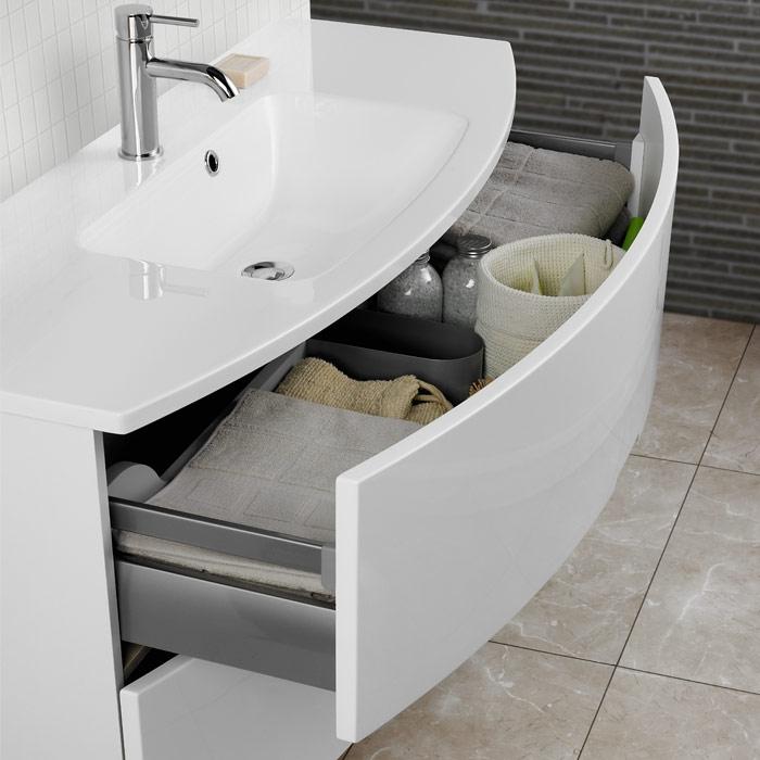 Doppelwaschbecken mit unterschrank modern  Scanbad Modern Waschtisch mit 2 Schubladen 120x48x59cm