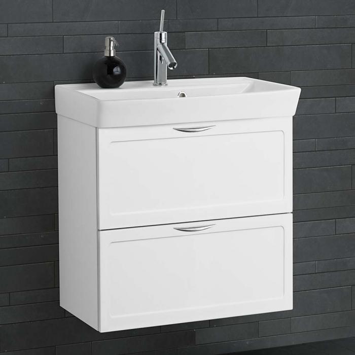 dansani mido waschtisch mit gerahmter front aufgesetztem griff und. Black Bedroom Furniture Sets. Home Design Ideas