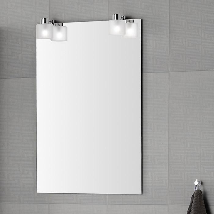 Ikea Spiegel Mit Lampen : ... Spiegel mit Beleuchtung durch aufgesetzte Eisglas-Lampen 50x76,5cm
