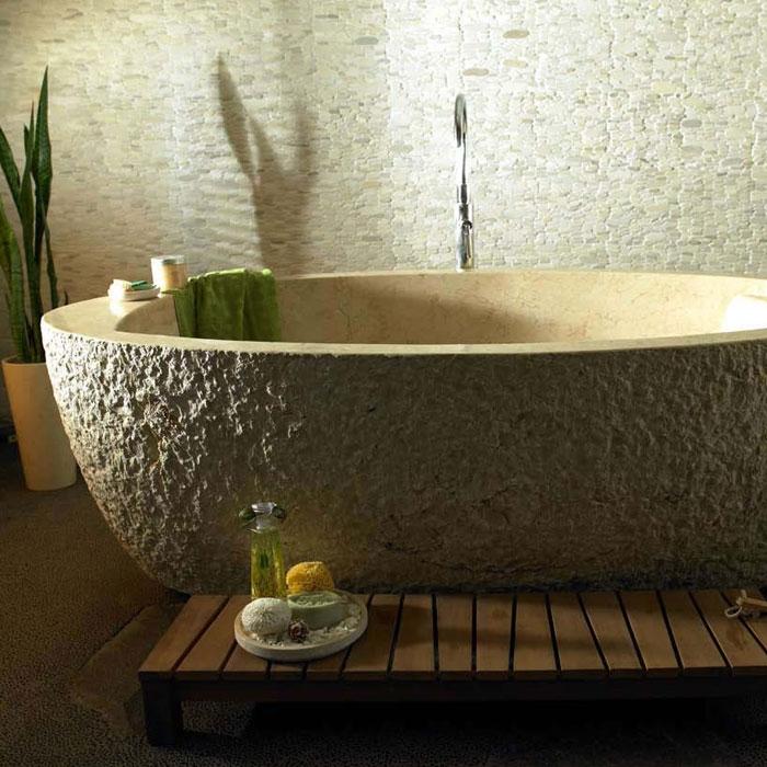 """Bati """"naga"""" freistehende marmor badewanne 204x99x70cm / div. farben"""