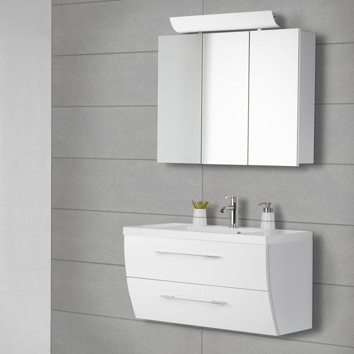 Scanbad Rumba Waschtisch Set 90 mit Spiegelschrank