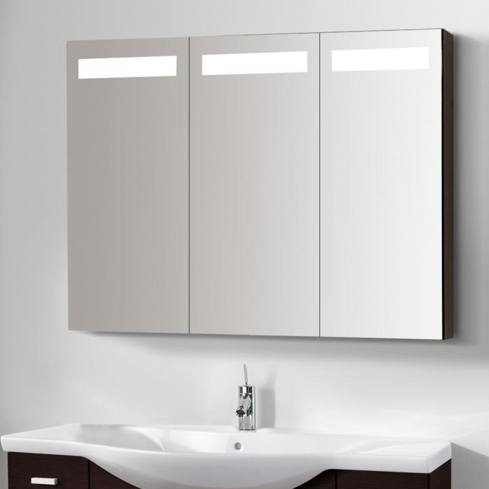 Großartig Spiegelschrank 3 Türig Mit Licht - Badezimmer 2016 DZ74