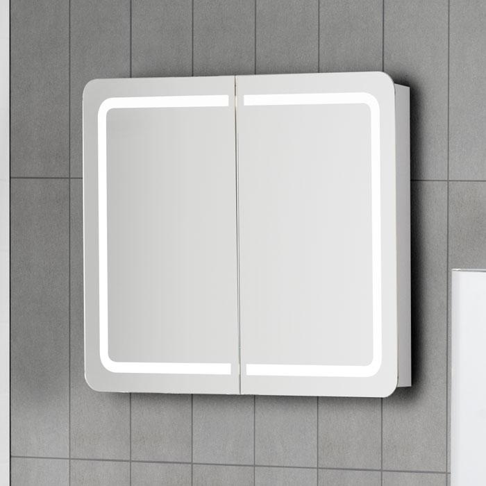 Scanbad Samba Spiegelschrank mit LED Beleuchtung umlaufend integriert
