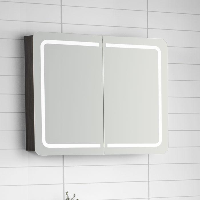 Led Beleuchtung Hersteller : Scanbad Samba Spiegelschrank mit LEDBeleuchtung umlaufend integriert