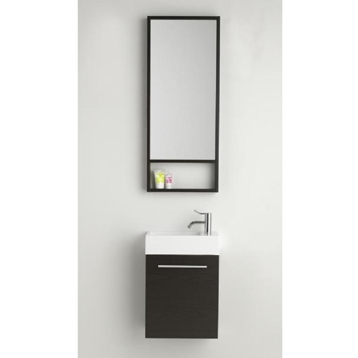 Turbo Dansani Gäste WC Waschtisch-Set inkl. Spiegel 40x20x48cm HT33
