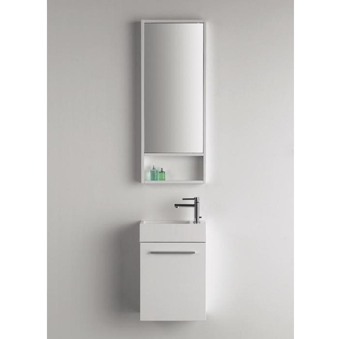 Gut gemocht Dansani Gäste WC Waschtisch-Set inkl. Spiegel 40x20x48cm KA47