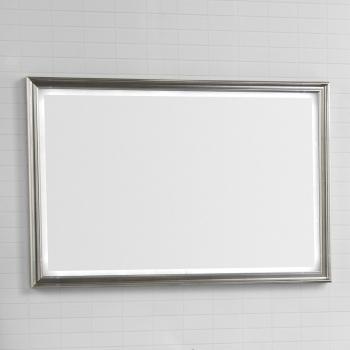 dansani luna rahmenspiegel profiliert mit led beleuchtung 100x70cm. Black Bedroom Furniture Sets. Home Design Ideas