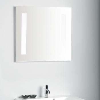 scanbad delta spiegel mit beleuchtung seitlich integriert 60x65cm. Black Bedroom Furniture Sets. Home Design Ideas