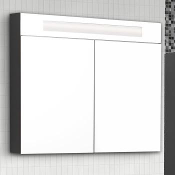 Scanbad modern spiegelschrank mit beleuchtung oben integriert 2 t ri - Scanbad spiegelschrank ...