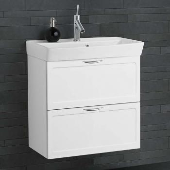 dansani mido waschtisch mit gerahmter front aufgesetzten griffen un. Black Bedroom Furniture Sets. Home Design Ideas