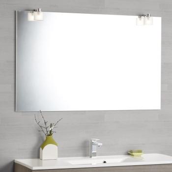Scanbad Multo Spiegel Mit Beleuchtung Durch Aufgesetzte Eisglas Lampen  120x76,5cm