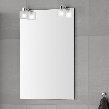 Scanbad multo spiegel mit beleuchtung durch aufgesetzte eisglas lampe - Schminktisch spiegel mit beleuchtung ...